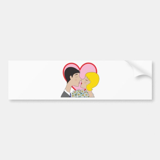 Couple Kissing Bumper Stickers