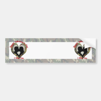 Couple Kissing  - I missing you on Valentine's Day Bumper Sticker