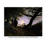 Couple Looking At Moon By Caspar David Friedrich Postcards