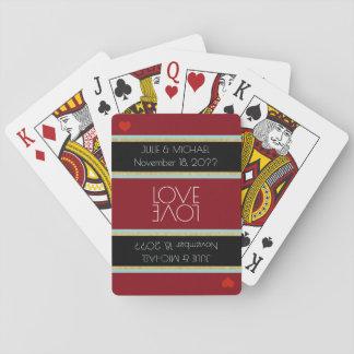 couple love celebration wedding playing cards