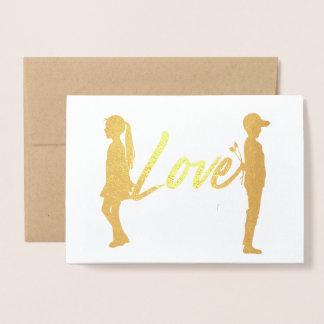 Couple Love Romantic Foil Card