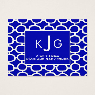 Couple Monogram Enclosure Cards