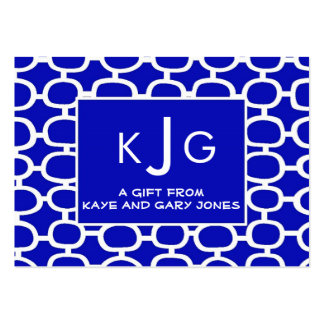 Couple Monogram Enclosure Cards Pack Of Chubby Business Cards