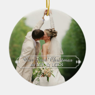 Couple Mr & Mrs First Christmas Holiday Ornament