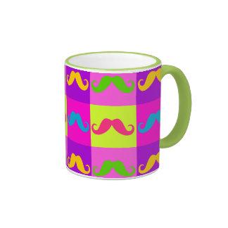 Couple mug set x 2, moustache and lips