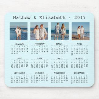 Couple Names and Photos | 2017 Photo Calendar Mouse Mat
