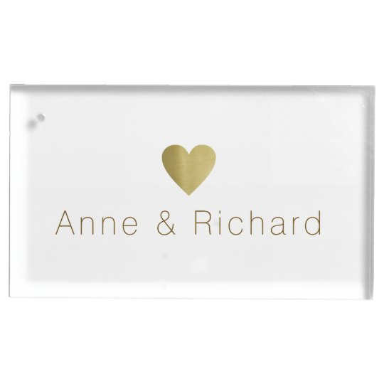 couple names with a faux gold heart, wedding