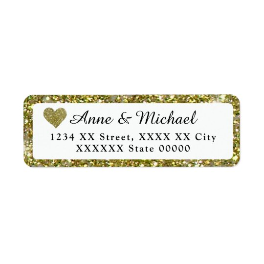 couple names with faux gold glitter border