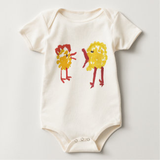 Couple of chickens baby bodysuit