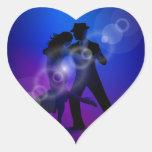 Couple of Dancing Tango Design Heart Sticker