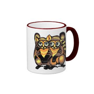 Couple of lemurs ringer mug