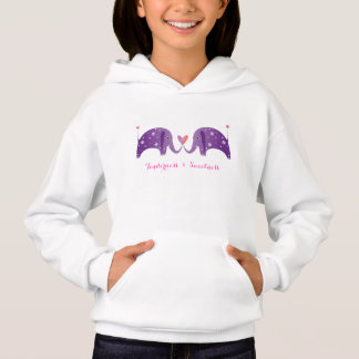 Couple of purple elephants- tenderness & sweetness