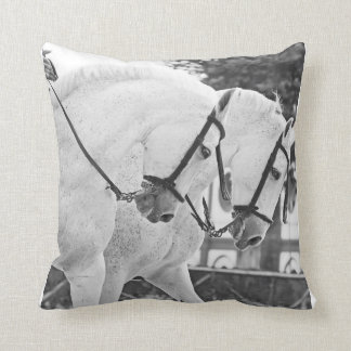 couple of white horses. spain cushion