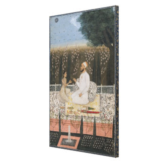 Couple on a Terrace in a Garden Gallery Wrapped Canvas