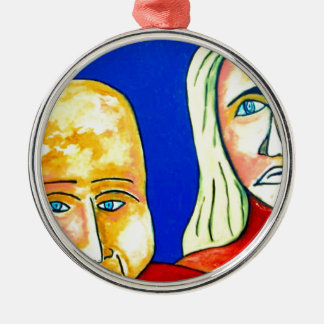 Couple on Beach Christmas Ornament