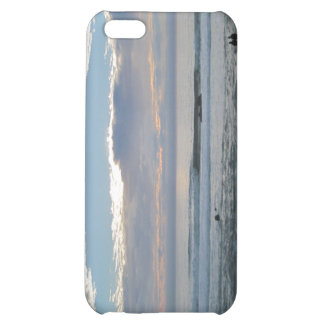 Couple on Beach Gazing into Sunset and Ocean Case For iPhone 5C
