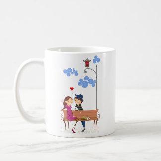 Couple on Bench Coffee Mug