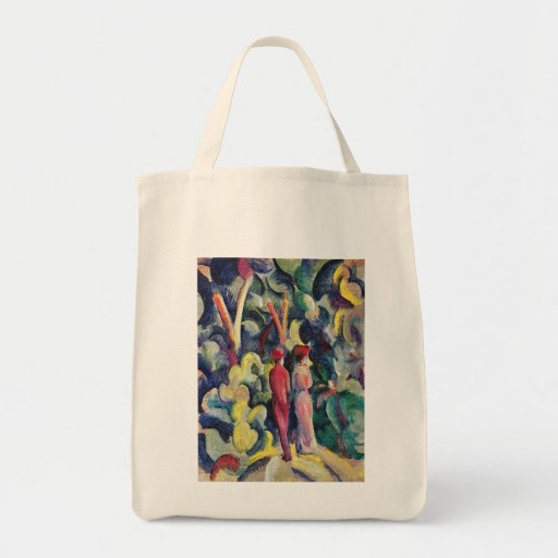 Couple on the Forest Track by August Macke Canvas Bag