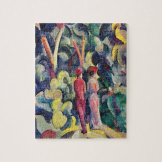Couple on the Forest Track by August Macke Puzzles