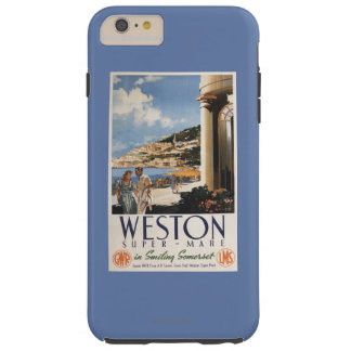 Couple Overlooking Coast Railway Poster Tough iPhone 6 Plus Case