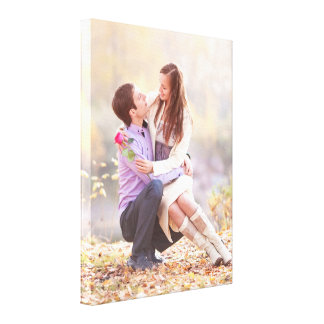 Couple Photo [18x24] inches Stretched Canvas Print