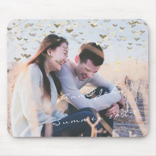 Couple Photo Name Sweet Memories Hearst Gold Mouse