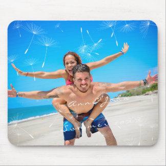 Couple Photo Name Sweet Summer Dandelion Mouse Mat