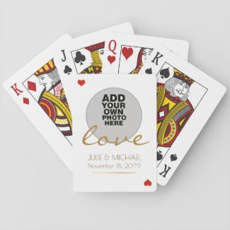 Photo Wedding Playing Cards