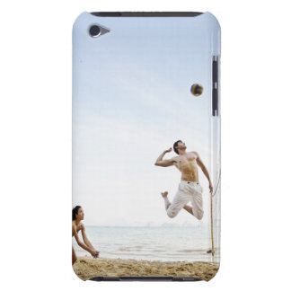 Couple Playing Beach Volleyball at Six Senses iPod Touch Covers