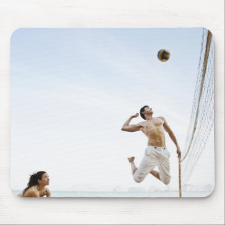 Couple Playing Beach Volleyball at Six Senses Mouse Mat