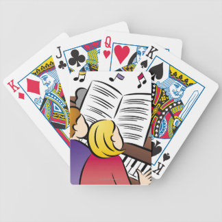 Couple Playing Piano Bicycle Playing Cards