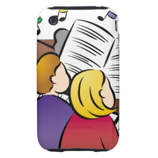 Couple Playing Piano iPhone 3 Tough Cases