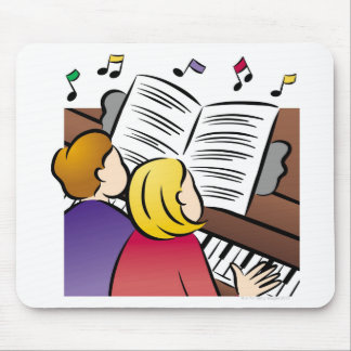 Couple Playing Piano Mouse Pad