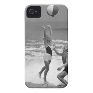 Couple Playing with a Beachball iPhone 4 Case-Mate Case