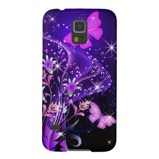 Couple Purple Butterflies There Samsung Galaxy S5 Cases For Galaxy S5
