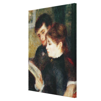 Couple Reading (Edmond Renoir and Marguerite Legra Stretched Canvas Print