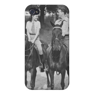 Couple Riding Horses Case For The iPhone 4