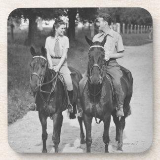 Couple Riding Horses Coaster