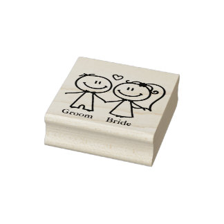 Couple Rubber Stamp