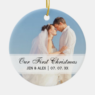 Couple s First Christmas Ornament Photo