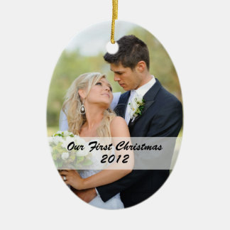 Couple s First Christmas Photo Ornament