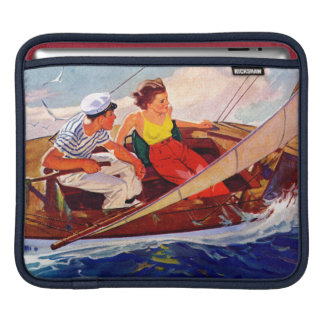 Couple Sailing by R.J. Cavaliere iPad Sleeve