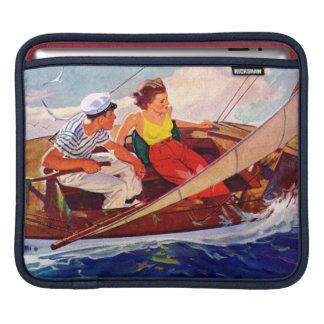 Couple Sailing by R.J. Cavaliere iPad Sleeves