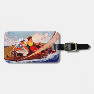 Couple Sailing by R.J. Cavaliere Luggage Tag