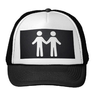 Couple Shakehands Minimal Cap