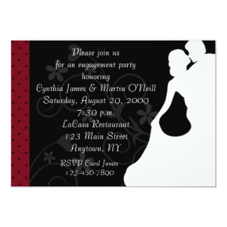 Couple Silhouette 13 Cm X 18 Cm Invitation Card
