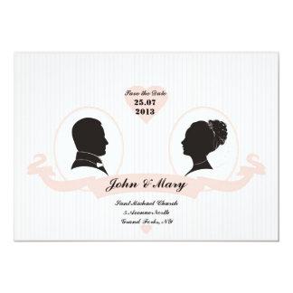 Couple Silhouette 13 Cm X 18 Cm Invitation Card
