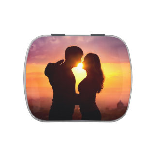 Couple Silhouette At Sunset Jelly Belly Tin