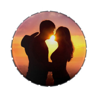 Couple Silhouette At Sunset Jelly Belly Tins