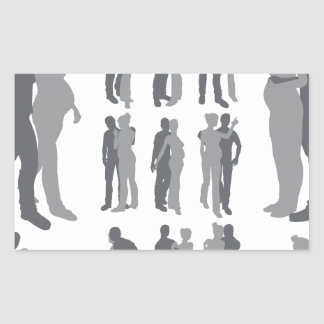 Couple silhouettes pregnant woman stickers